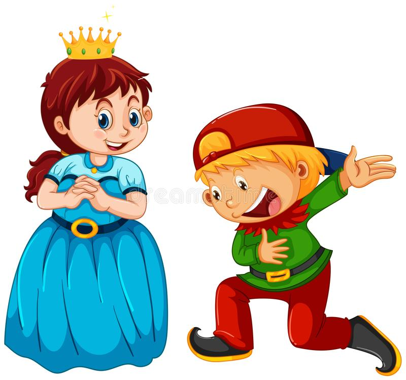 Boy and girl wearing costume royalty free illustration