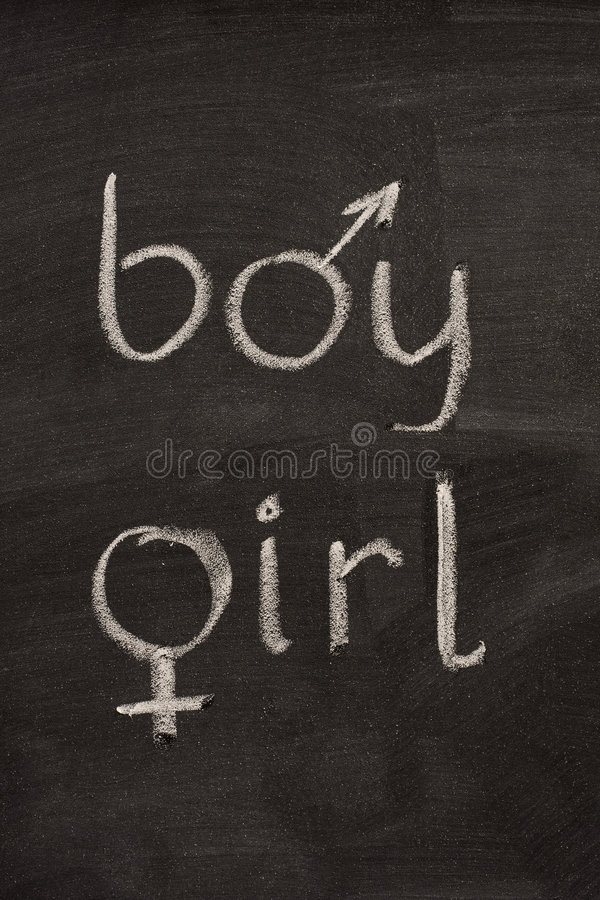 Download Boy And Girl  Words With Gender Symbols Stock Image - Image of white, nobody: 6742549