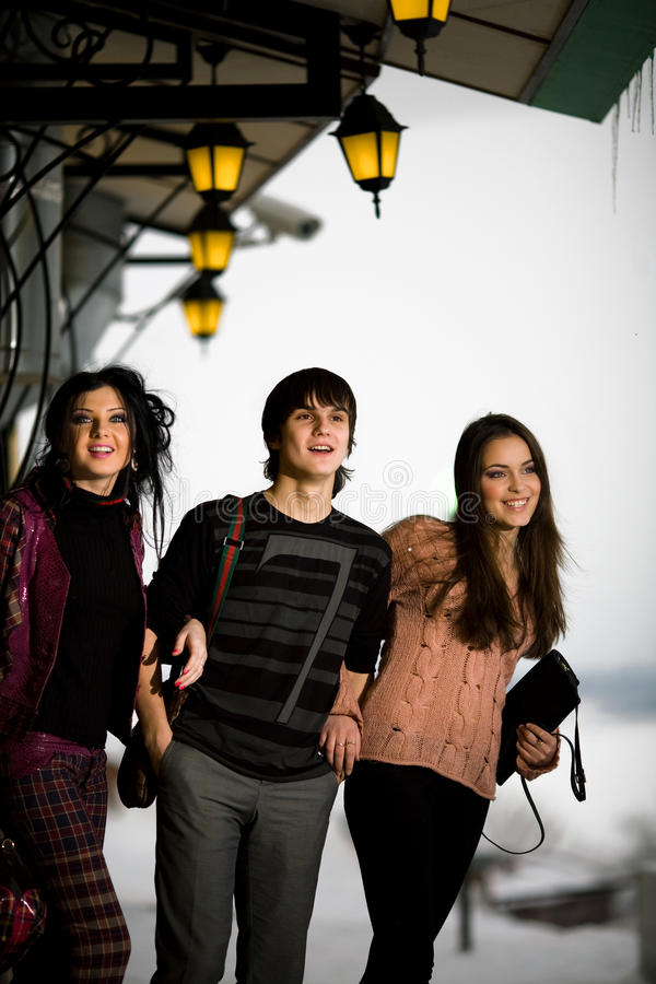 Download Boy With Girlfriends Royalty Free Stock Image - Image: 13122196