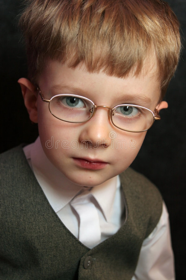 Boy with glasses royalty free stock image