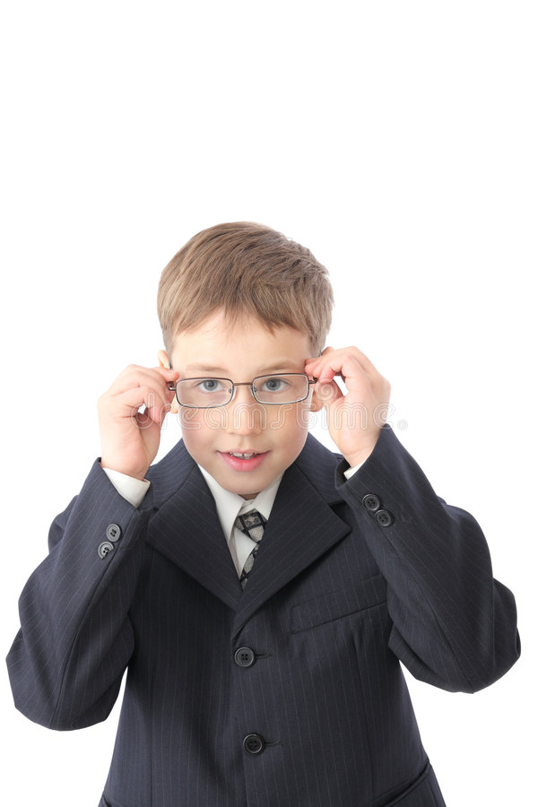 Boy in glasses stock photography
