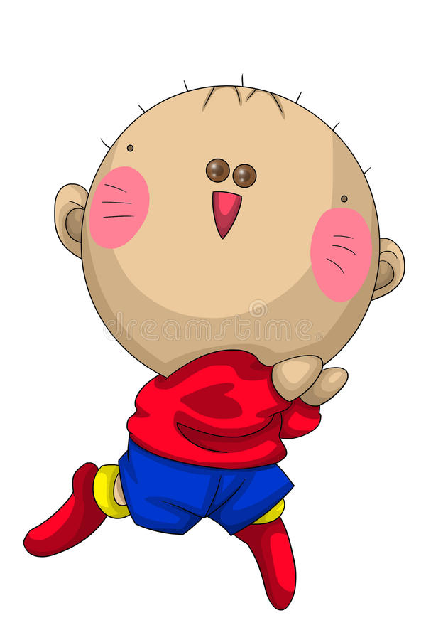 Boy Hairless Stop Making Me Laugh Character Cartoon Style