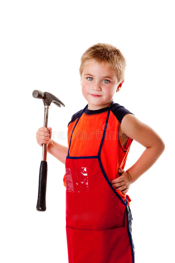 Download Boy with hammer stock image. Image of tool, child, hammer - 10677859