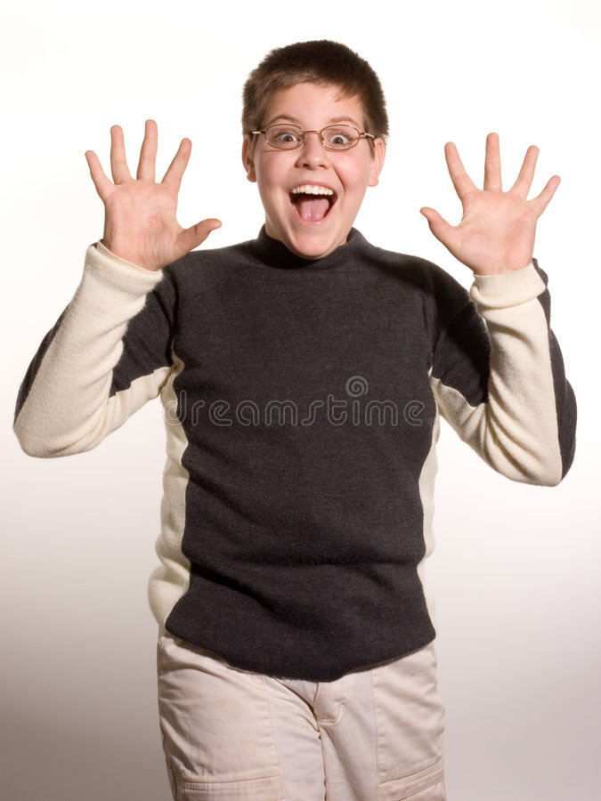 Boy With Hands royalty free stock photos