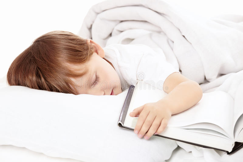 Boy Has Got Tired Stock Photography