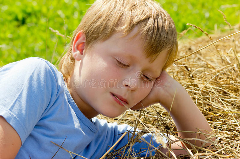 Download Boy have a rest. stock image. Image of dream, life, male - 21350253