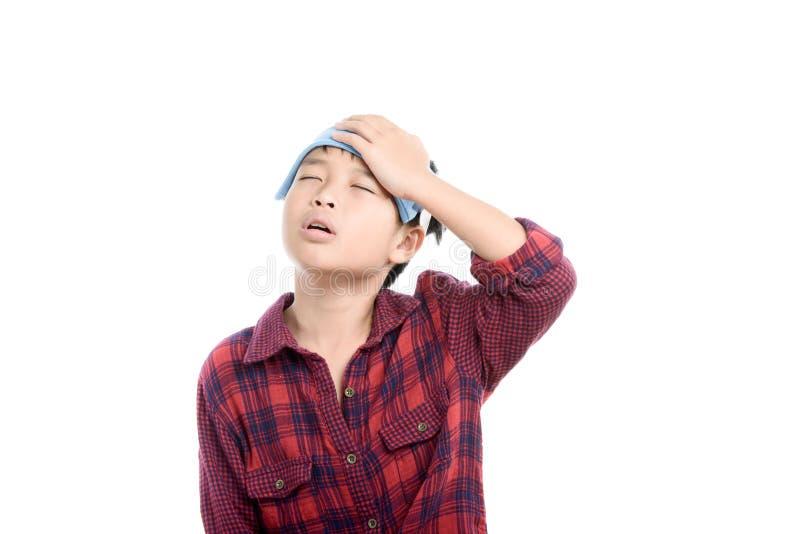 Boy headache stock photo
