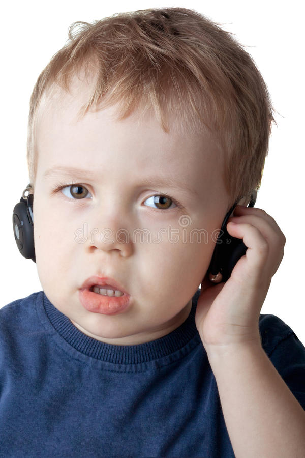 Download Boy with headphones stock image. Image of face, sound - 22950519