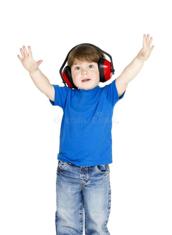 Download Boy with headphones. stock photo. Image of hand, enjoy - 24220212