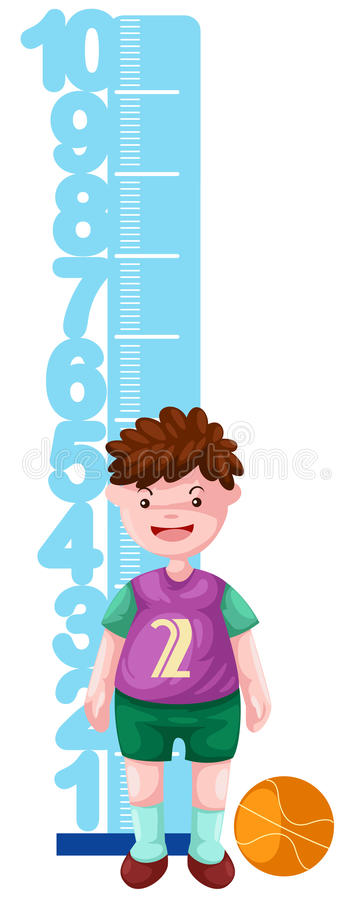 Download Boy with height scale stock illustration. Image of portrait - 21064358