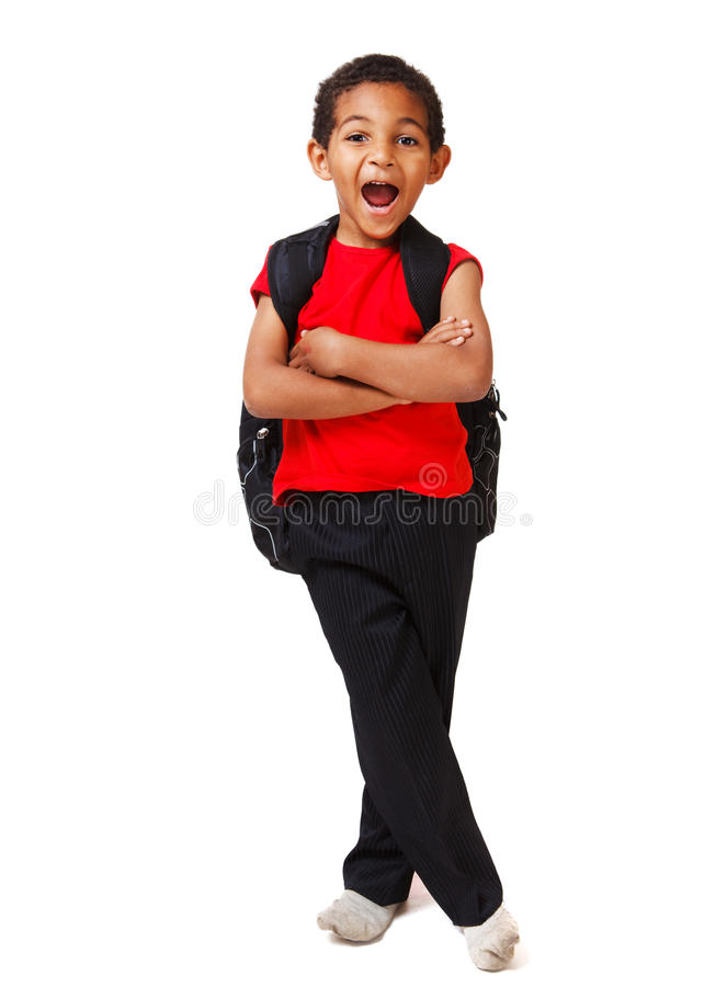 Download Boy with his arms crossed stock image. Image of color - 22159377