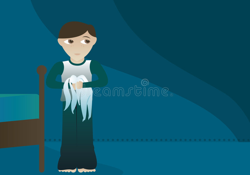 Download Boy and His Bunny stock illustration. Illustration of pants - 819668