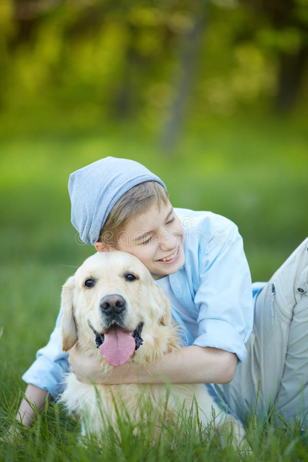 Download Boy and his friend stock photo. Image of people, outside - 33940616