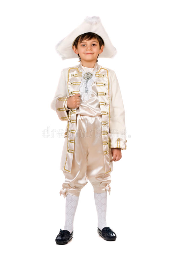 Boy In A Historical Costume Royalty Free Stock Images