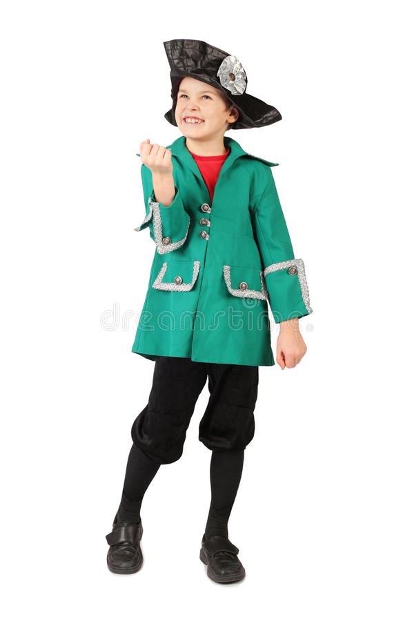 Download Boy In Historical Dress Hand Gesture On White Stock Photo - Image: 14950582