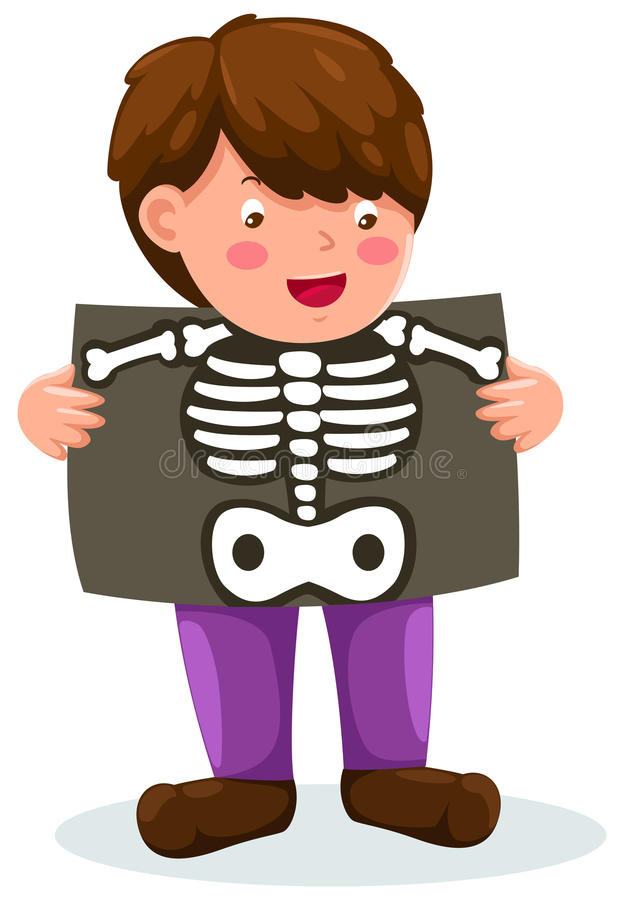 Download Boy holding x-ray stock vector. Illustration of biology - 20929423