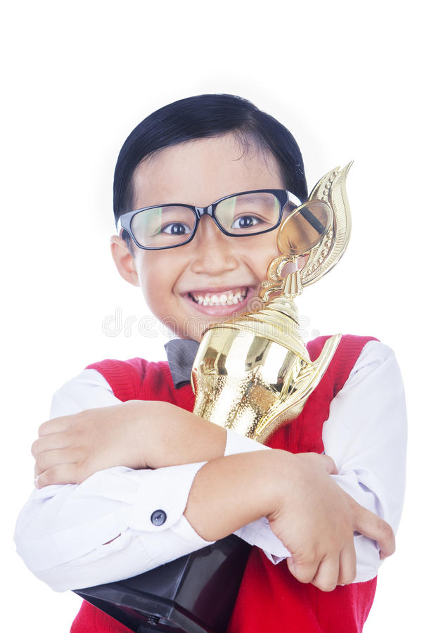 Download Boy Proud Of His Achievement Stock Photo - Image: 30005664