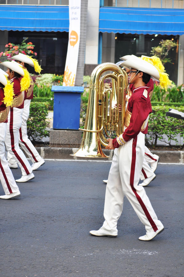 Download Boy Holding Trumpet In Marching Band Festival Editorial Photo - Image: 20469616