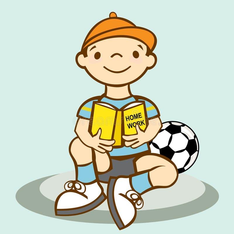 Boy Homework Stock Photo