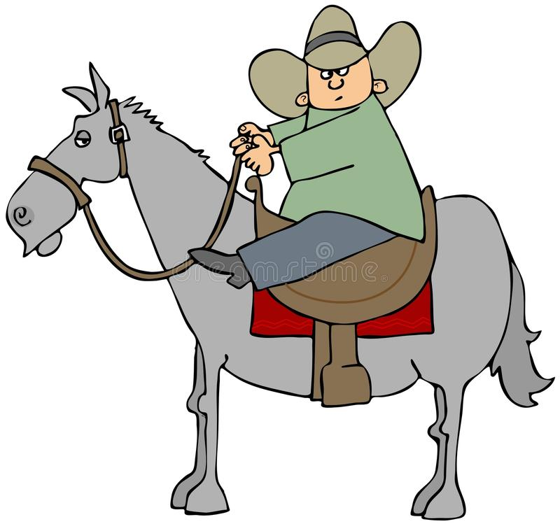 Download Boy on a horse stock illustration. Illustration of tail - 25562290