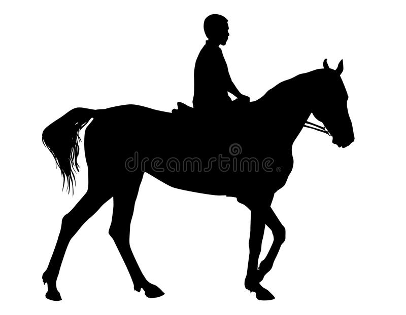 Download Boy on horse stock vector. Image of running, horse, riding - 33151852