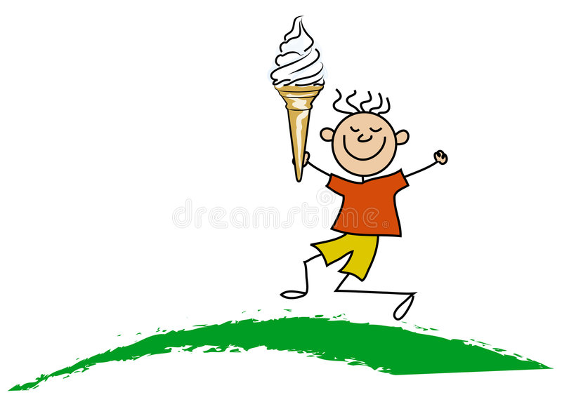 Download Boy with icecream stock illustration. Image of happiness - 2618290