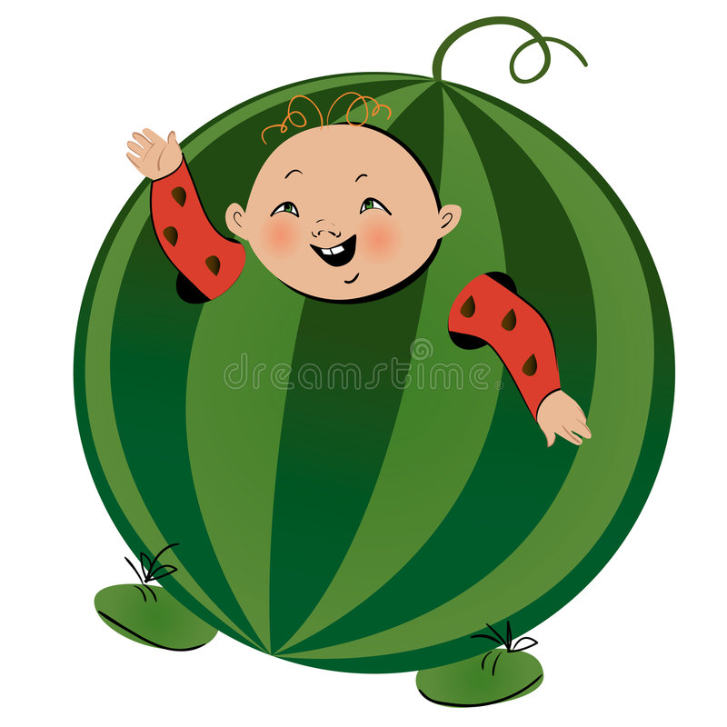 Free Boy In Watermelon Suit Royalty Free Stock Photo - 8426635