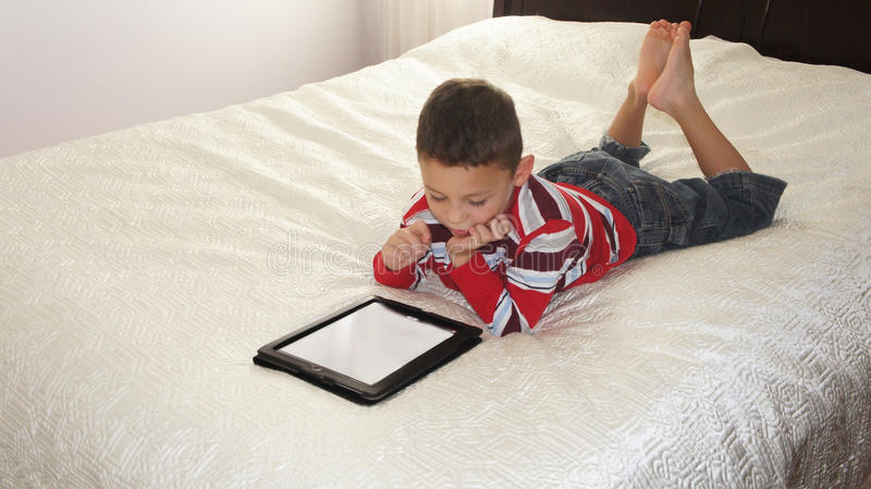 Download Boy with iPad stock image. Image of activity, interactive - 29343231