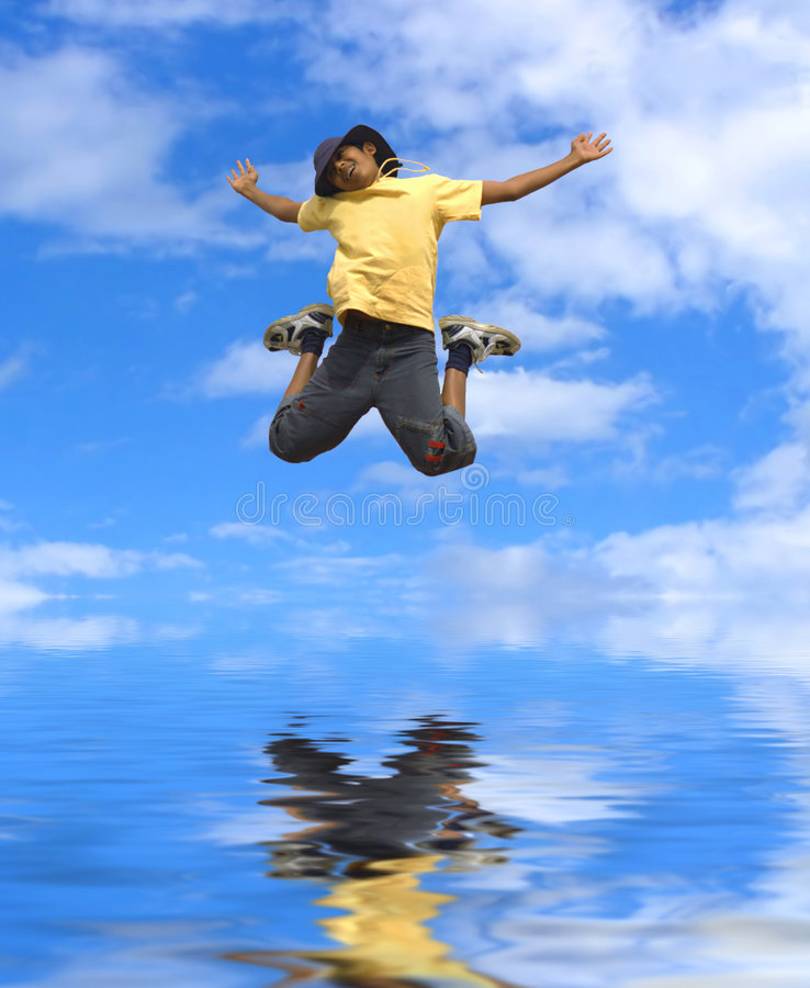 Download Boy jumping stock photo. Image of child, smiling, healthy - 5293444