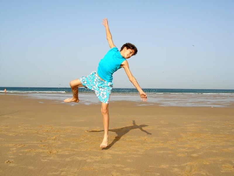 Boy jumping royalty free stock photo