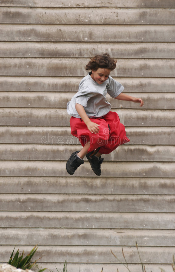Download Boy jumping off building stock image. Image of closeup - 1815007