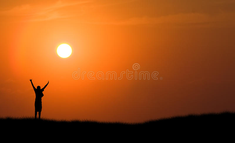 Download Boy Jumping Silhouette Sunset Stock Photo - Image: 17832566