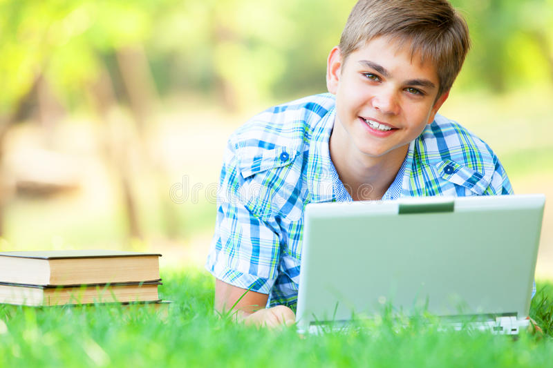 Download Boy with laptop stock photo. Image of primary, person - 33684980