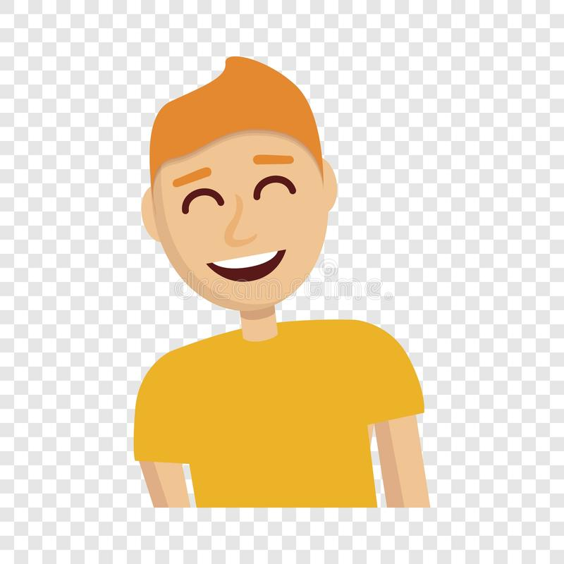 Boy laugh icon, cartoon style. Boy laugh icon. Cartoon of boy laugh vector icon for web design stock illustration
