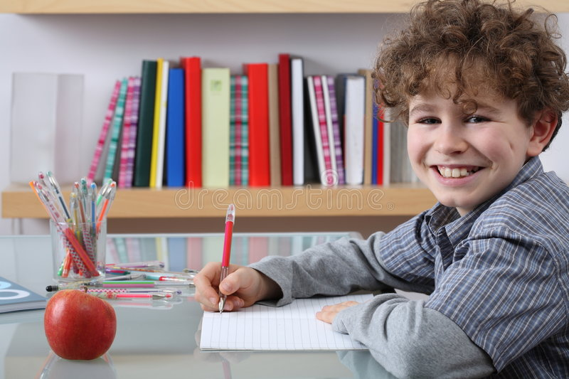 Download Boy learning stock photo. Image of concentrated, learn - 3781660