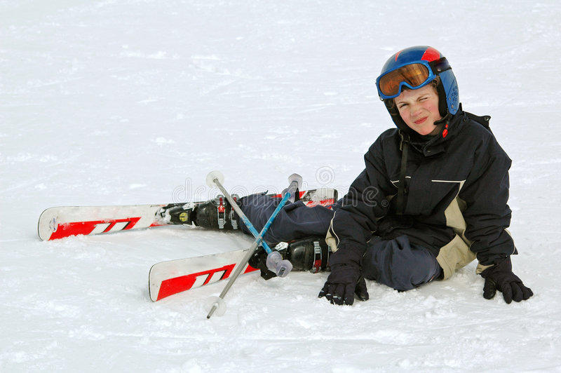 Download Boy learning to ski stock photo. Image of sports, piste - 4922448