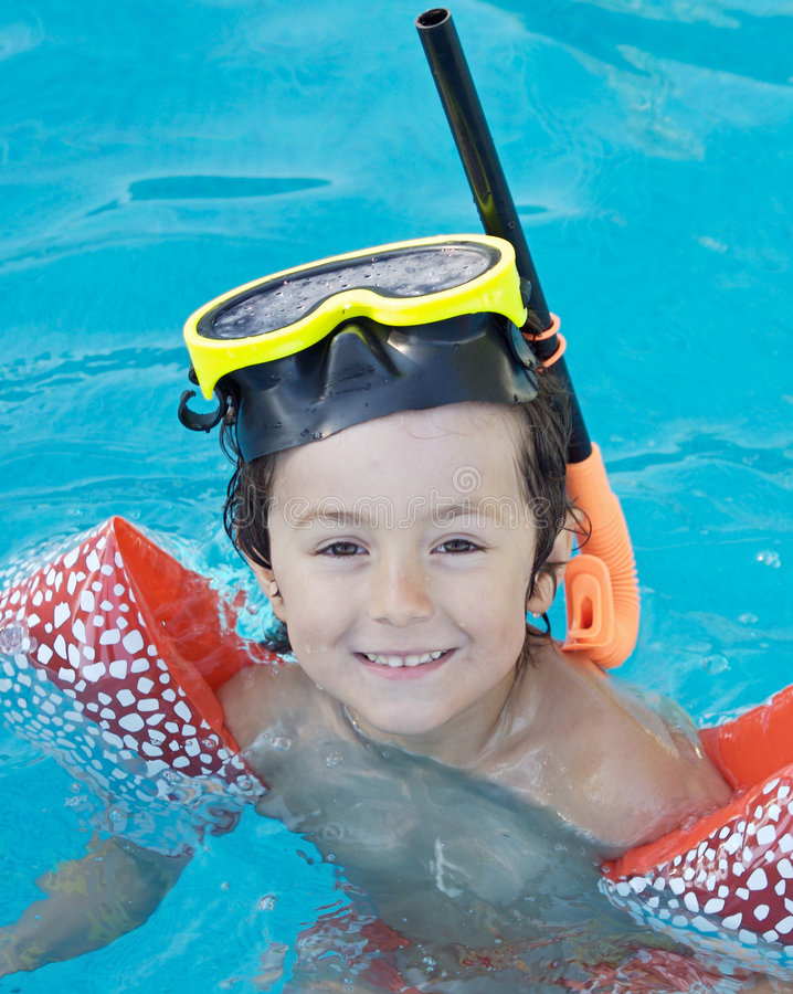 Free Boy Learning To Swim Royalty Free Stock Images - 2828239