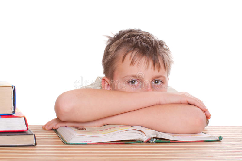 Download Boy learns lessons stock photo. Image of face, isolated - 28340432