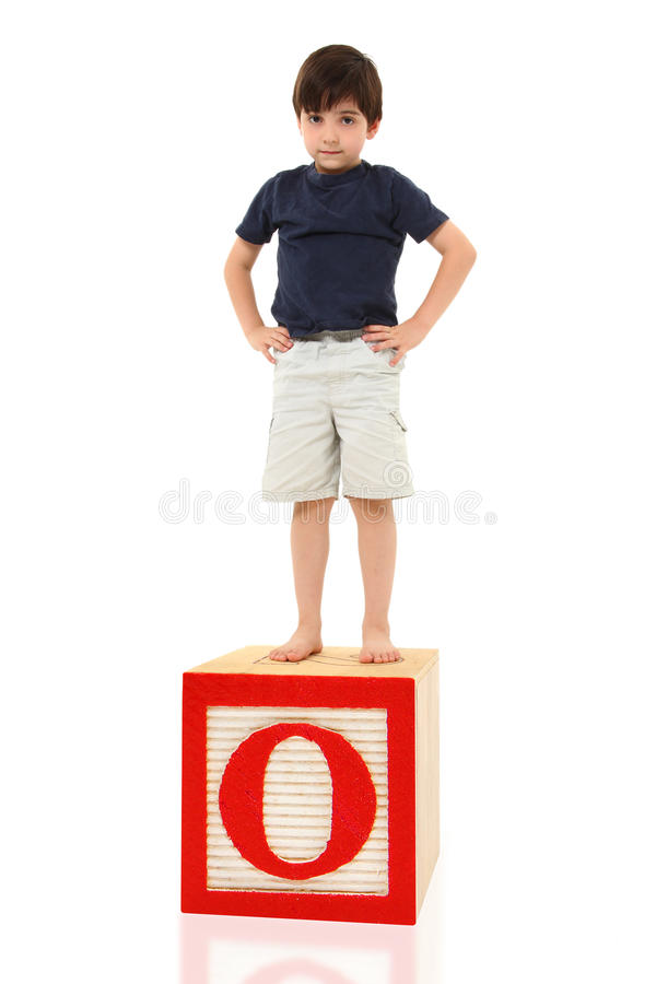 Download Boy and the Letter O stock photo. Image of word, alphabet - 14938758