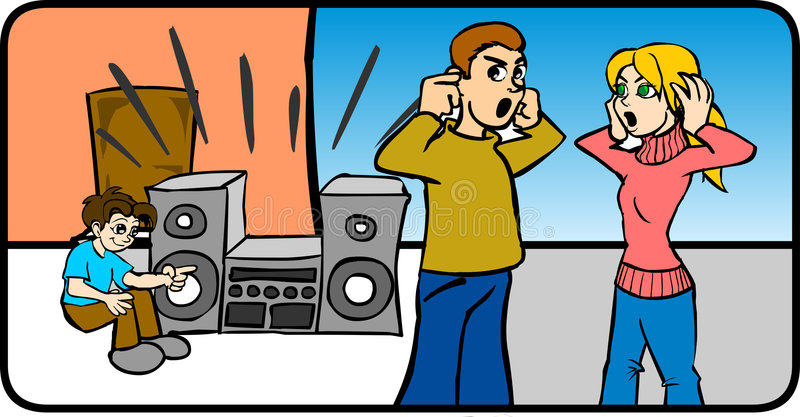 Download Boy Listening Loud Music stock vector. Image of vector - 2755035