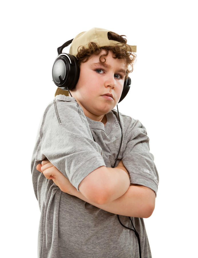 Download Boy Listening To Music Stock Photography - Image: 16426352