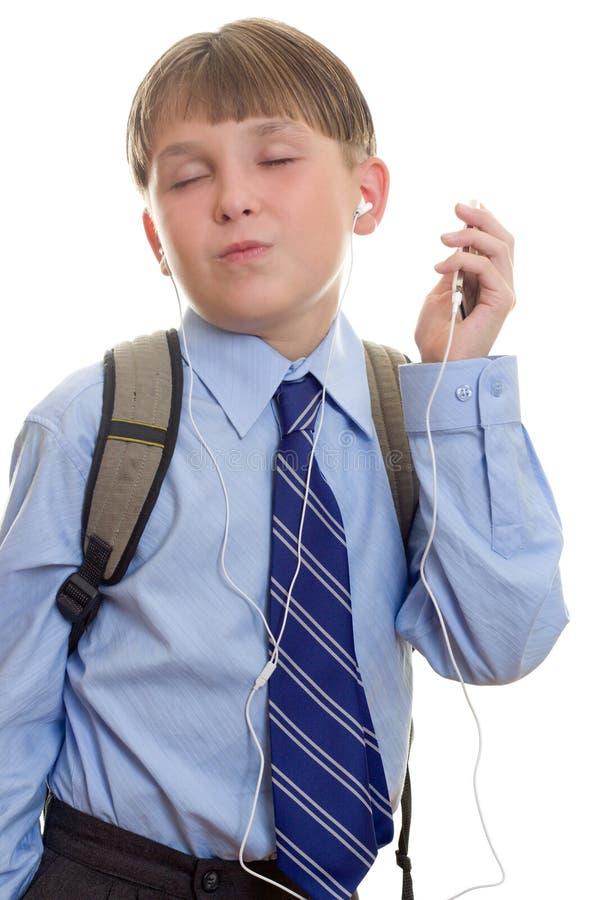 Download Boy listening to music stock image. Image of enjoying, listen - 518685