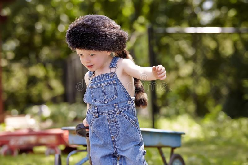 Boy. Little boy outside toy park playing cute happy sweet royalty free stock image