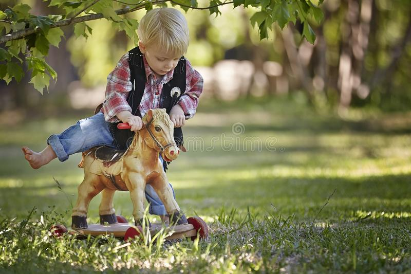 Boy. Little boy outside toy park playing cute happy sweet stock images
