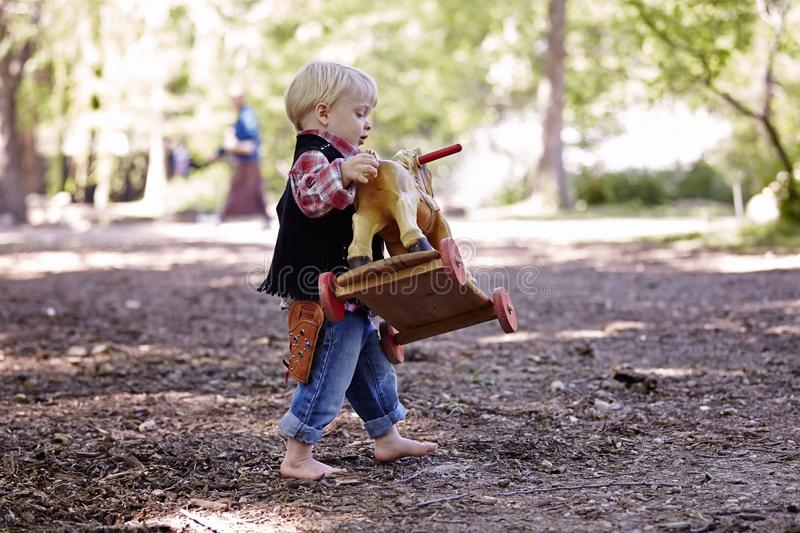 Boy. Little boy outside toy park playing cute happy sweet royalty free stock photography