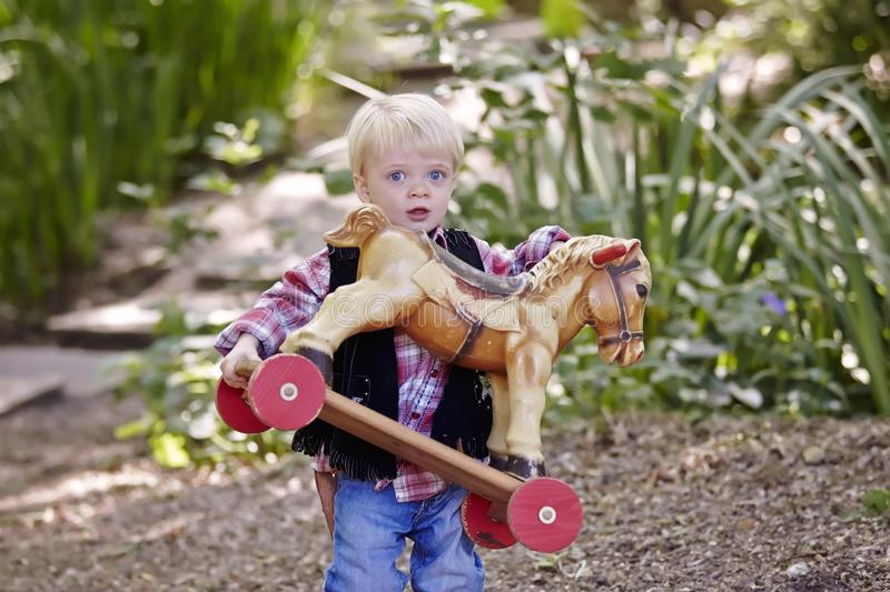 Boy. Little boy outside toy park playing cute happy sweet stock photography