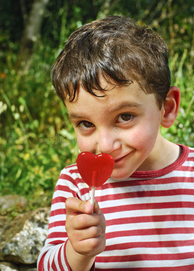 Download Boy With A  Lollypop Stock Images - Image: 9756654