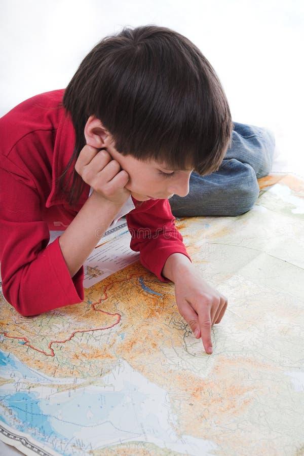Free Boy Looks Map Stock Photos - 2375623