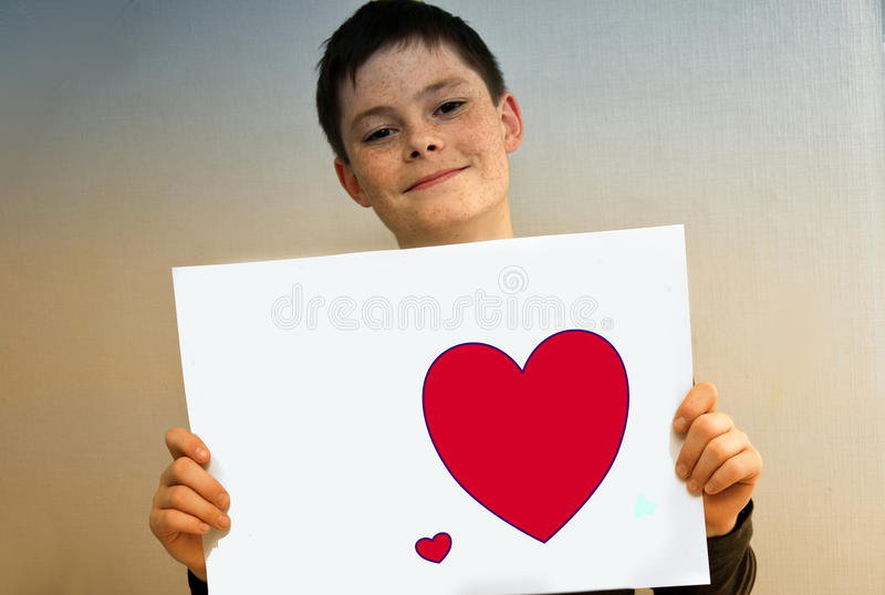 Boy in love stock images