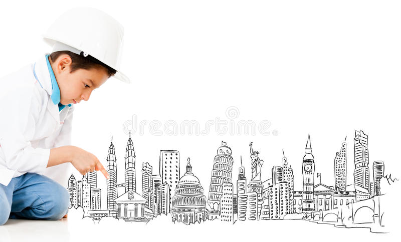 Boy with the main cities